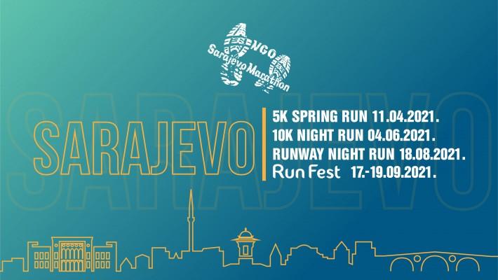 Udruženje Marathon Sarajevo najavljuje 10 utrka u Sarajevu u 2021. godini